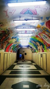 Tunnel Art at Makati Avenue