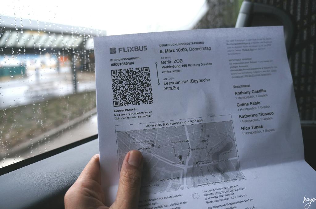 Flixbus ticket