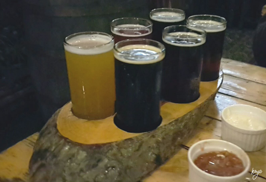 6 in 1 Tasting Tray at Baguio Craft Brewery