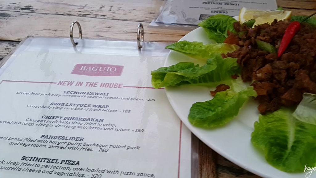 Sisig Lettuce Wraps at Baguio Craft