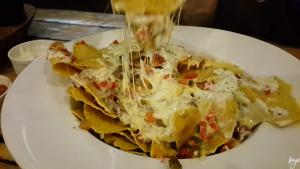 Cheesy, hot, spicy nachos