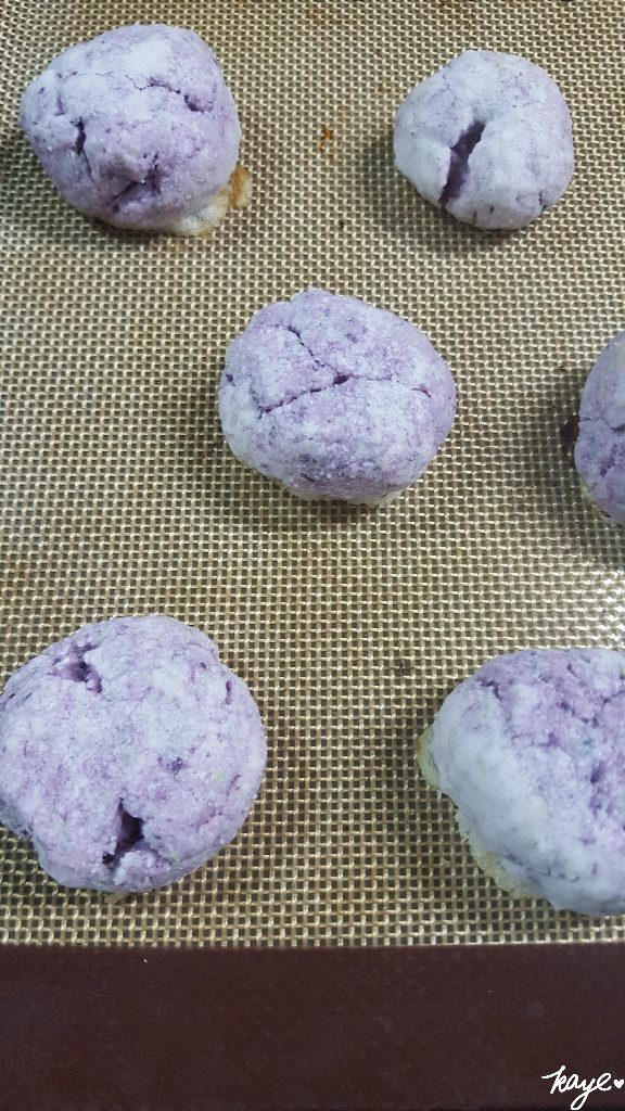 1st batch of ube cookies