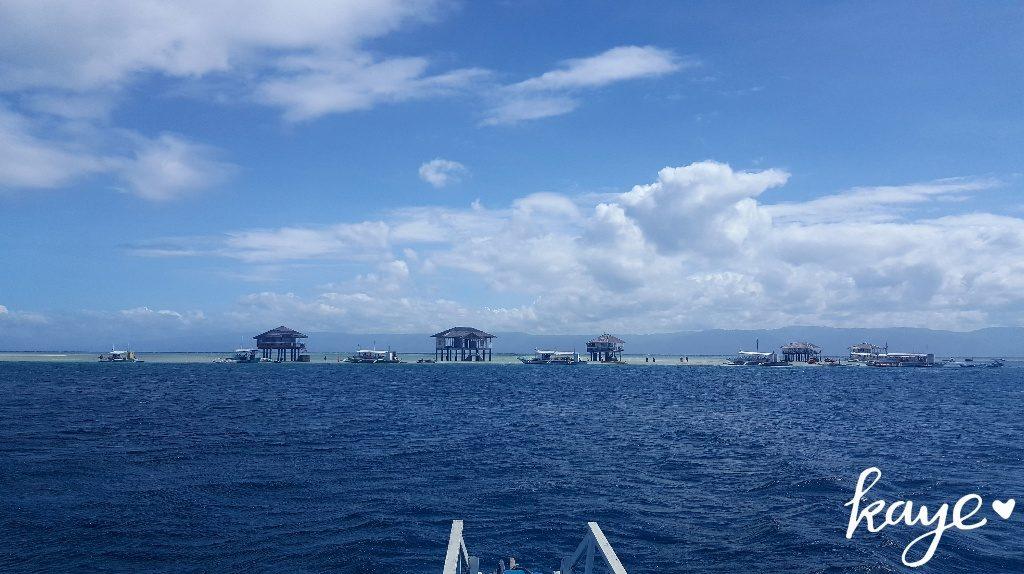 Approaching Majuyod sandbar by boat