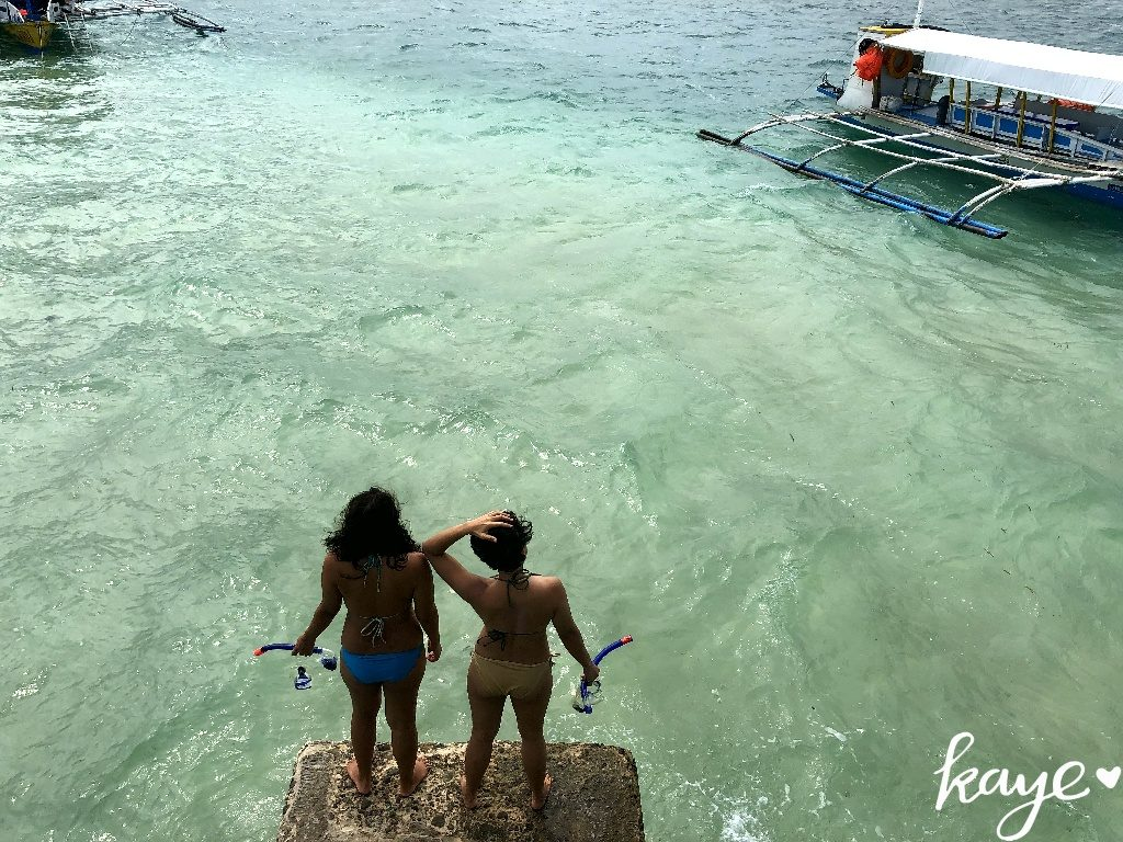 Taking the boat to the coral reefs