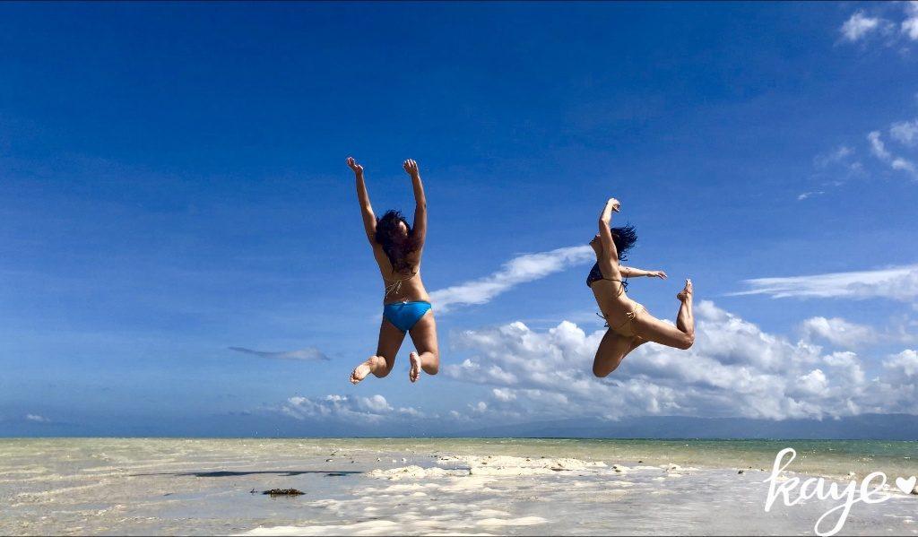 Jumping on Manjuyod sandbar