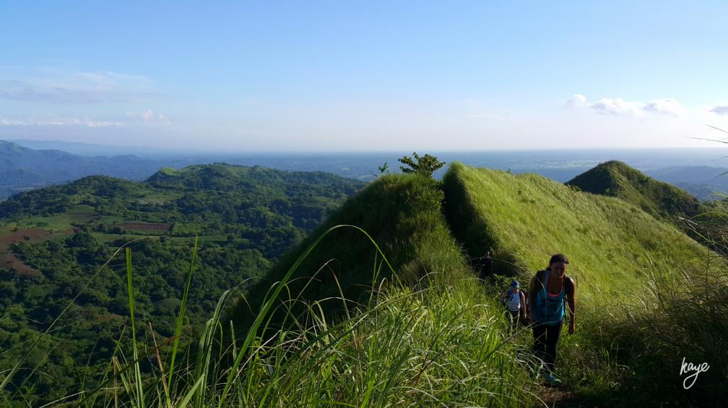 Hiking mountain ridges