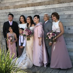 Bride's family photo