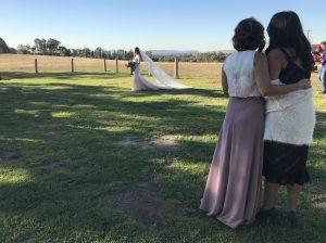 Bride and wedding singers