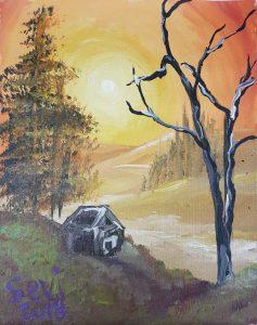 painted autumn landscape