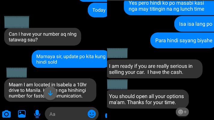 Screenshot of an overbearing buyer