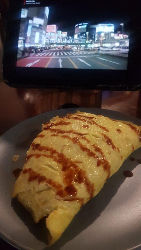 Japanese omelette rice